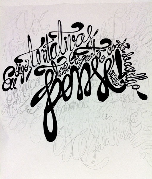 :: Sketch that I made in a large piece of paper