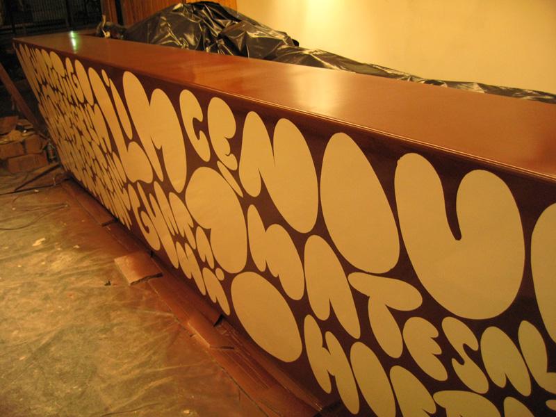 :: Counter painting for Jataí, Rio de Janeiro. Sep 2007.