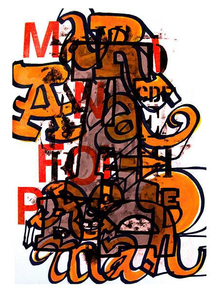 :: Sketchbook. Ecoline and Letraset on paper, 23 x 28 cm. Jul 2007.