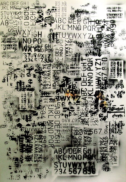 :: Stencil rulers. Ink on paper, 66 x 96 cm. Jun 2006.
